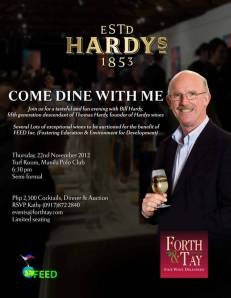 Supporting FEED Hardy's Wine Dinner & Benefit, 22 November 2012