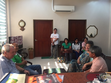 Discussions about Ridge to Reef water & food security priorities in La Union
